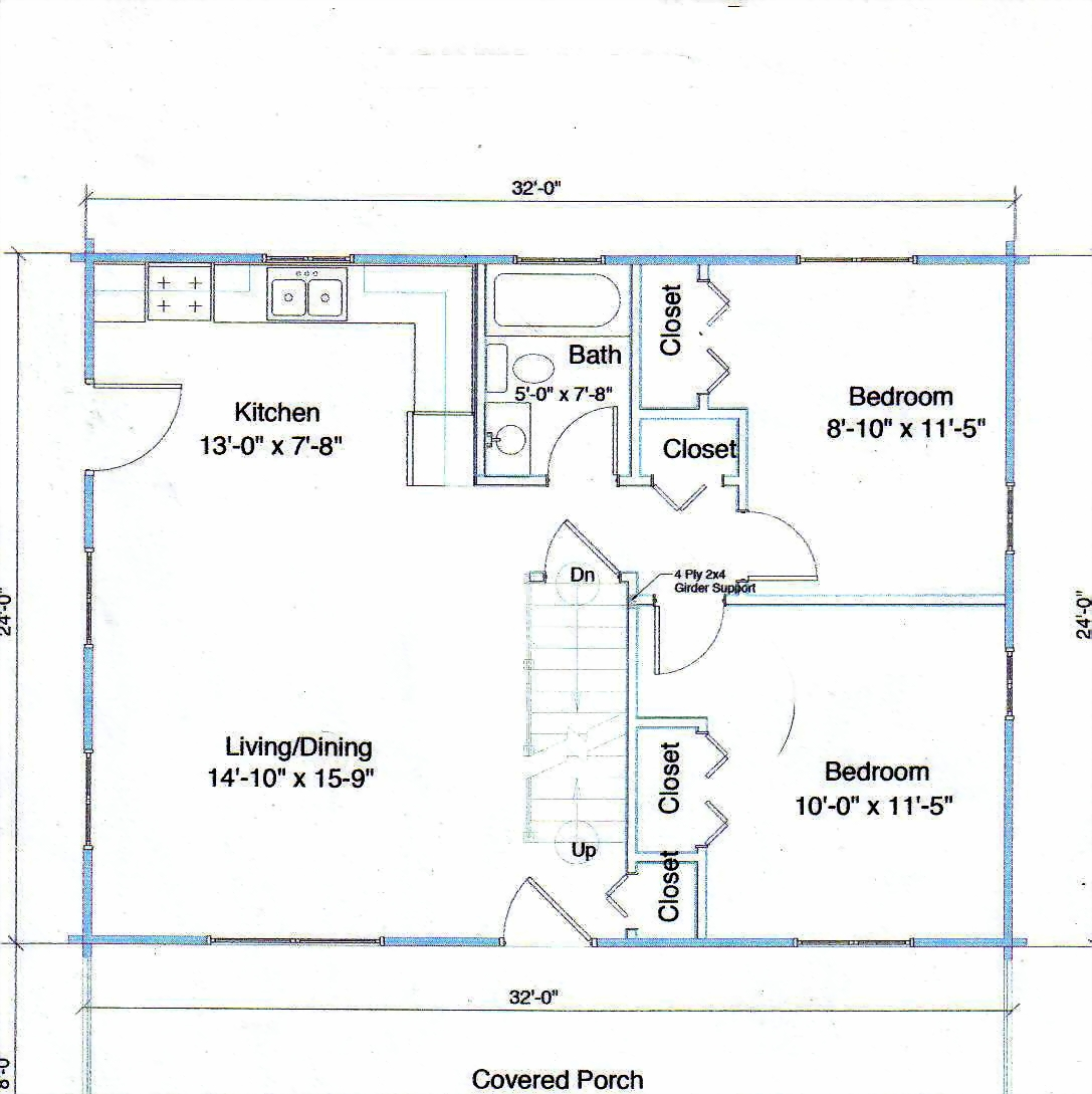 16 x 32 house floor plans wood floors for 32x32 house plans