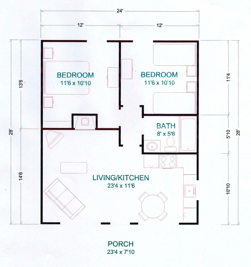 Cabin floor plans free house plans Plan chalet