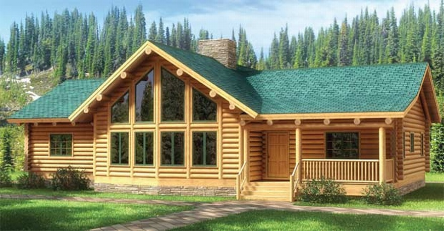 Dream home log cabin water tight materials for One story log homes
